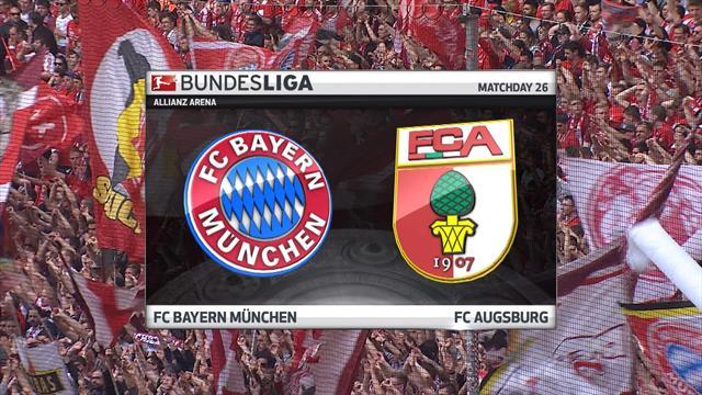 Høydepunkter Bayern München - Augsburg