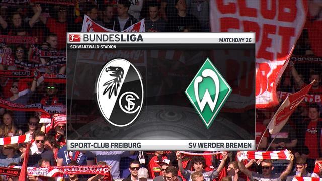 Høydepunkter: Freiburg - Werder Bremen