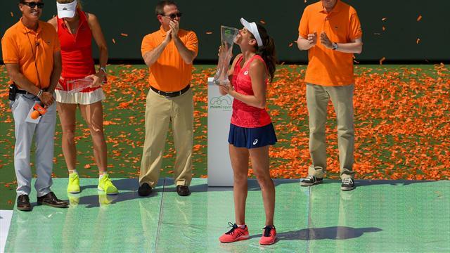 Wozniacki'yi iki sette deviren Konta Miami'de şampiyon