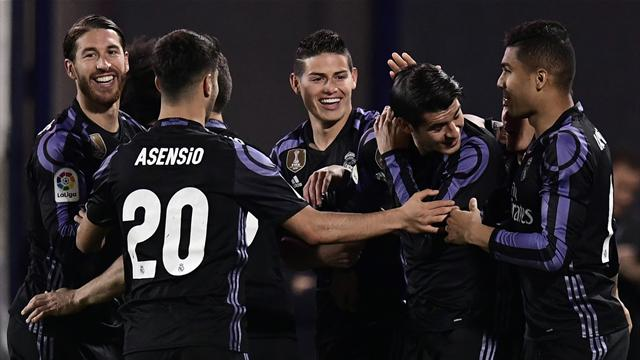 Morata double helps Real Madrid return to top of table
