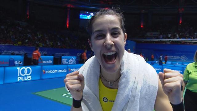 Carolina Marín pasa a semifinales tras ganar por primera vez a Intanon