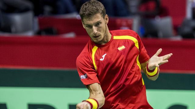 Copa Davis, Troicki-Carreño: Muy cuesta arriba 6-3, 6-4 y 6-3; Serbia-España 2-0