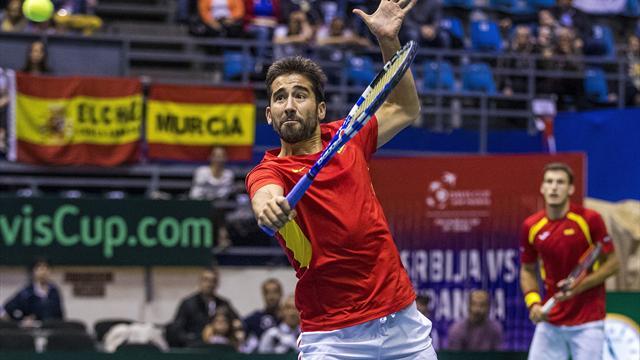 Copa Davis, Serbia-España: Caen con honor 4-6, 7-6, 6-0, 4-6 y 6-2
