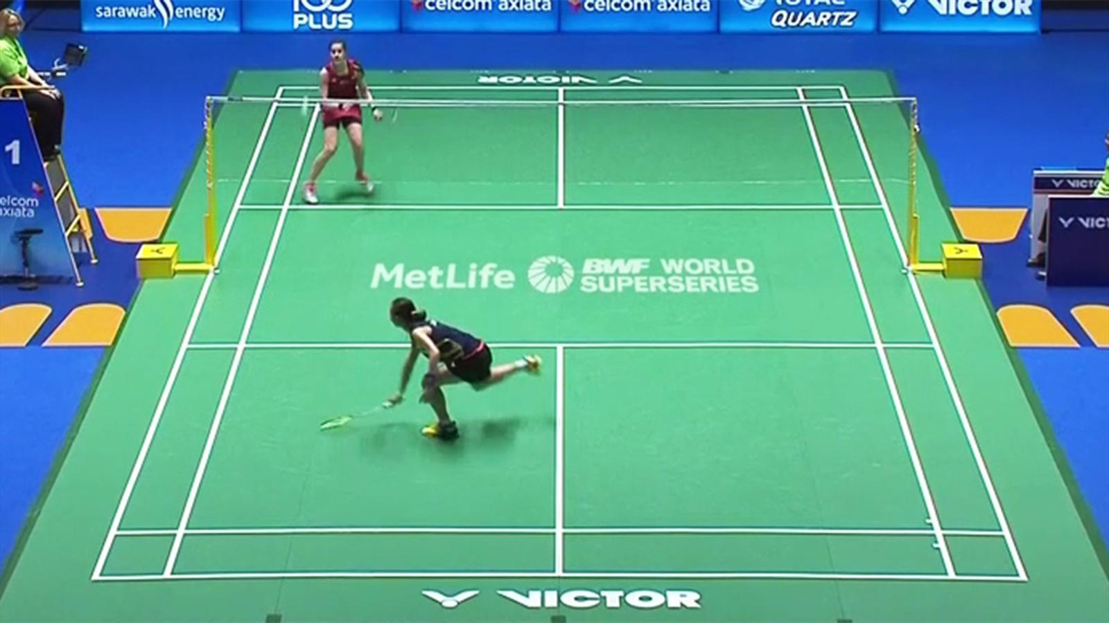 Doppel Badminton