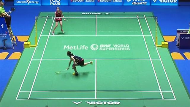 Video Badminton Unfassbare Präzision Beim Finale Der Malaysia