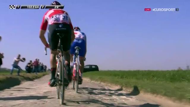 Cyclisme: le champion olympique Greg Van Avermaet remporte Paris-Roubaix