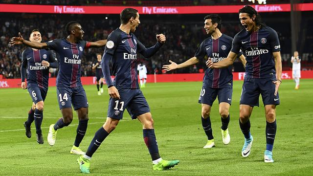 Cavani on target as PSG beat Guingamp to stay in contention
