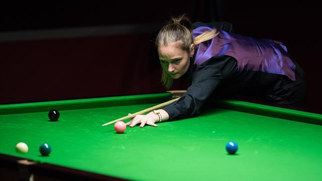 Snooker-Spielerin Evans knapp am historischen Coup vorbei