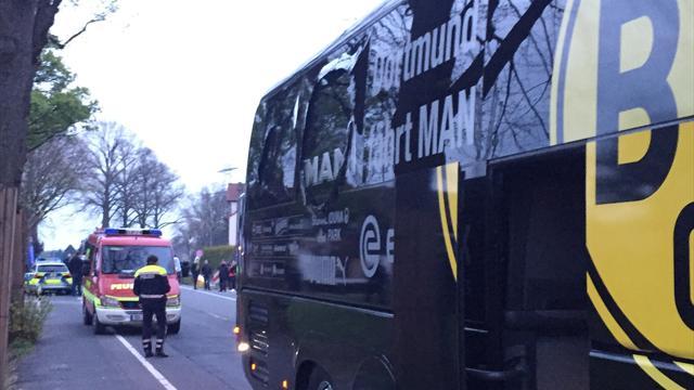 Borussia Dortmund, bus coinvolto in un'esplosione: Bartra ferito, partita rinviata a domani