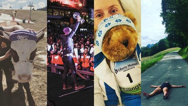 Vache, peluche et entraînement... L'interview Instagram de Tessa Worley