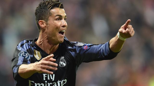 Ronaldo reaches milestone as Madrid punish 10-man Bayern