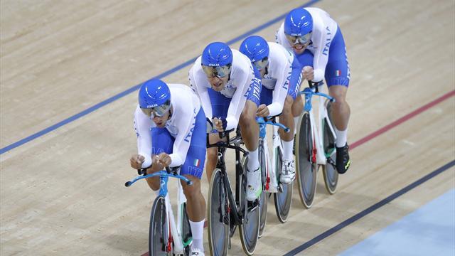 Super Filippo Ganna guida gli azzurri alla conquista del bronzo ai mondiali di Hong Kong!