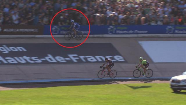Did a fan try to grab Stybar in Paris-Roubaix?