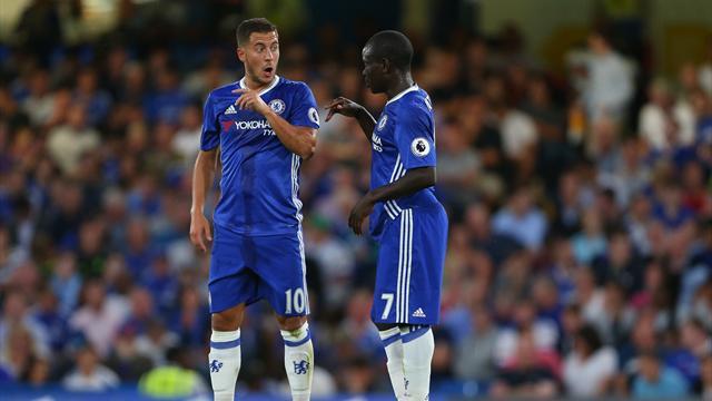 Kanté, Hazard et David Luiz dans l'équipe-type de l'année en Premier League