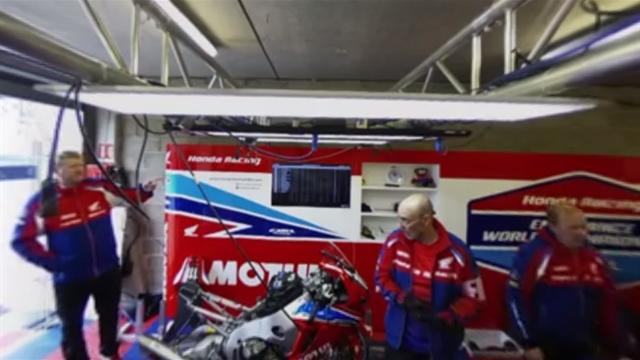 Plongée au coeur du stand Honda en live 360° avant le départ des 24 heures du Mans moto