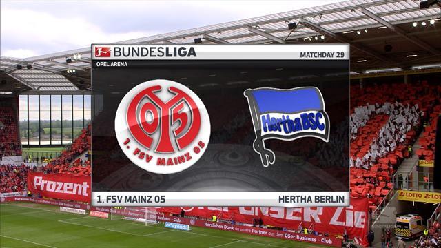 Høydepunkter: Mainz - Hertha Berlin