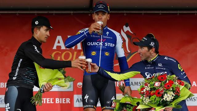 Gilbert gana su cuarta Amstel en un mano a mano con Kwiatkowski