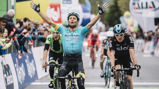 Scarponi sprints to stage win in Tour of the Alps opener