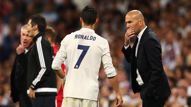 "Zidane : ""Cristiano reste tranquille face aux sifflets''"