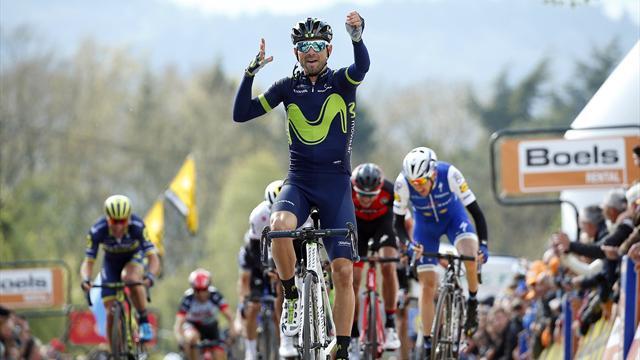 Flecha Valona: Alejandro Valverde consigue su quinto triunfo, el cuarto consecutivo
