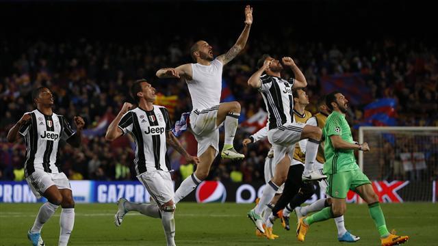 Juventus, Barça'dan gol yemeden yarıladı