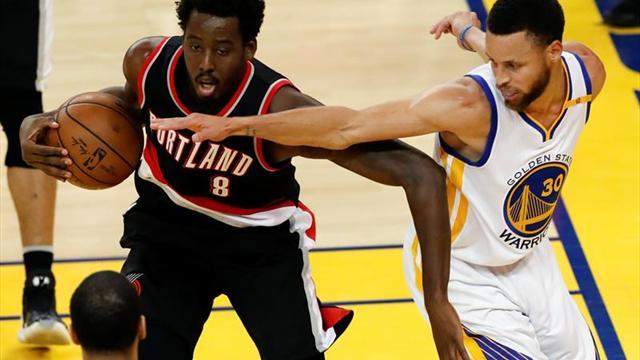 Warriors ganan 119-113 a Blazers, se ponen 3-0 en playoffs