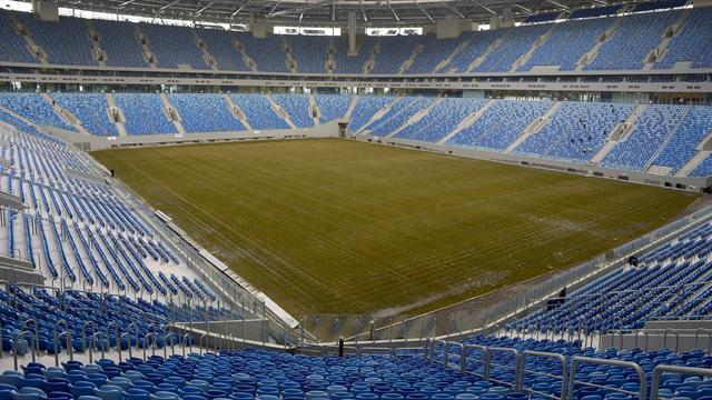 «Зенит» провел первую тренировку на новом стадионе
