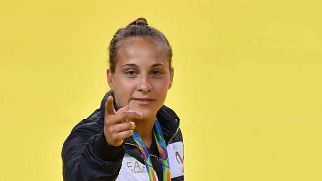 Odette Giuffrida chiude quinta agli europei, terzo titolo continentale per Majlinda Kelmendi