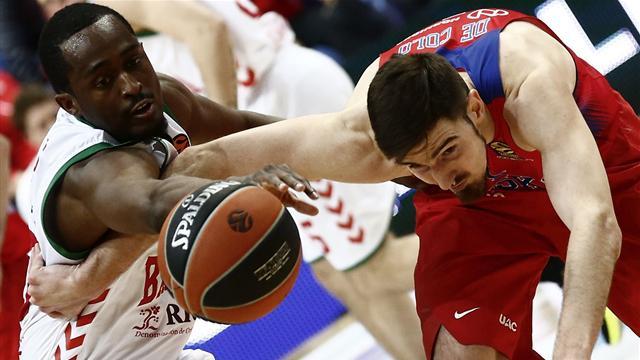 Euroliga, CSKA-Baskonia: Derrota en el último segundo y casi fuera (84-82, serie 2-0)