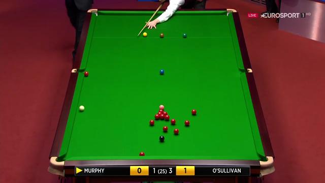 Shaun Murphy pots outrageous trick shot off three cushions