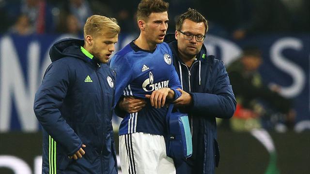 Kiefer ausgerenkt: Schalke droht Ausfall von Goretzka - Kolasinac mit Schmerzen