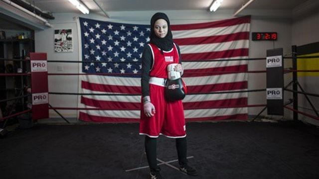 ВСША 16-летней мусульманке разрешили боксировать вхиджабе
