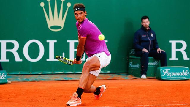Сумасшедший удар Надаля через коридор, после которого шансов не было бы даже у Федерера