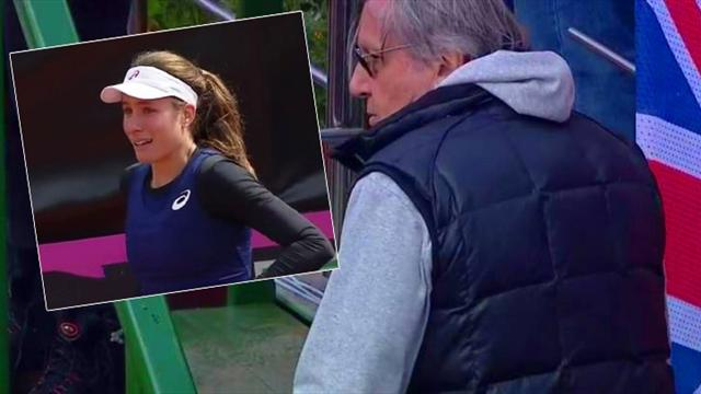 Konta reduced to tears after Nastase verbally abuses British team and umpire