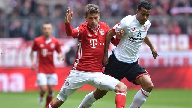 Bayern stanco e demotivato: solo 2-2 contro il Mainz e il Lipsia ci crede ancora