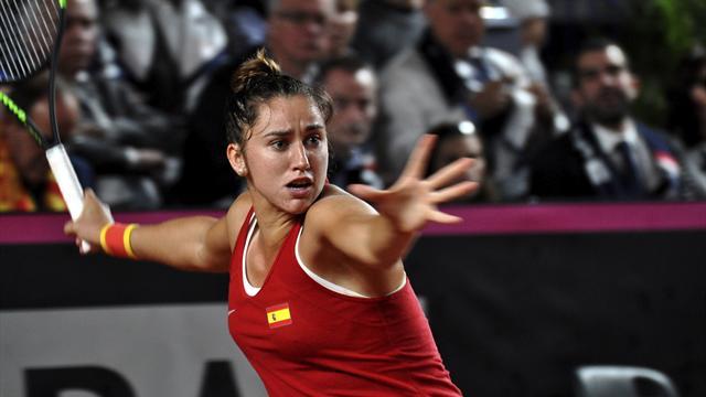 Francia supera a España 3-0, y la selección de Conchita Martínez desciende al Grupo Mundial II