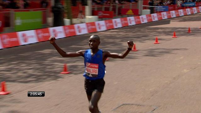 Malgré le joli retour de Bekele, Wanjiru a réussi à triompher sur le marathon de Londres