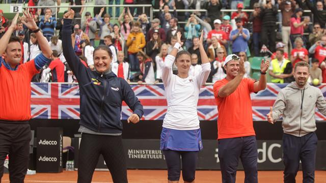 Romania beat Great Britain as Konta and Watson lose