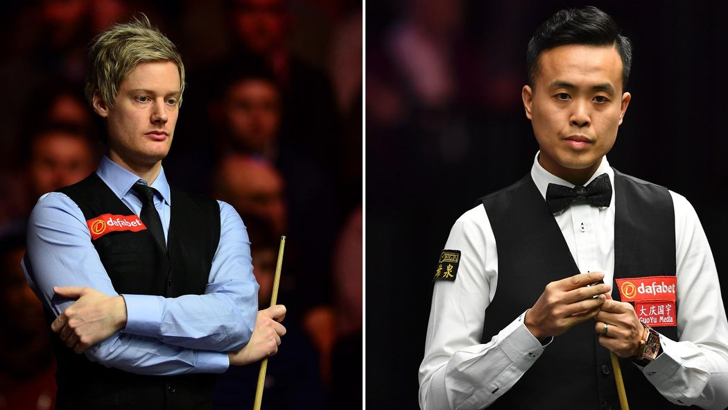 Nothing separates Neil Robertson and Marco Fu going into the final ...
