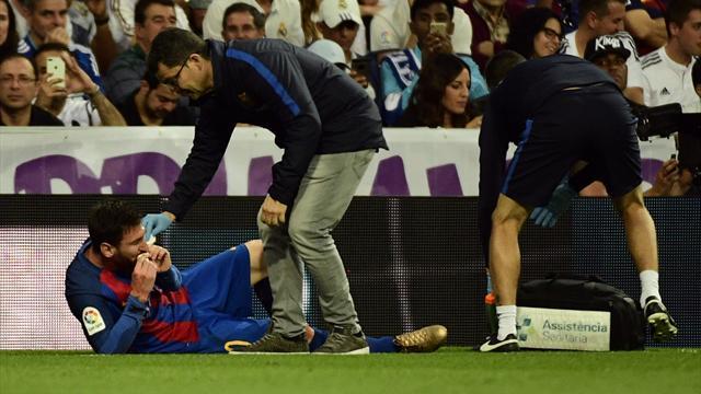 Avant de marquer, Messi avait pris un sacré coup de coude dans les gencives