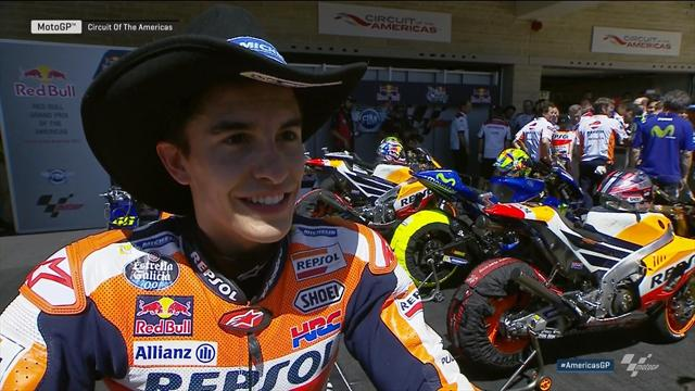 video marc marquez je suis tr s content de m 39 tre rapproch au classement grand prix des. Black Bedroom Furniture Sets. Home Design Ideas