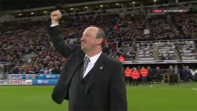 Sekundene etter opprykket – Benítez takker fansen