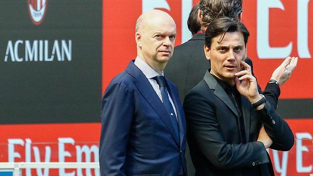 """Fassone: """"Credete in questo Milan, c'è un piano e Montella non si tocca"""""""
