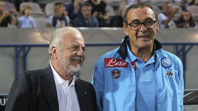 Sarri-De Laurentiis c'è ottimismo dopo l'incontro: si va verso rinnovo con ingaggio da 4 milioni