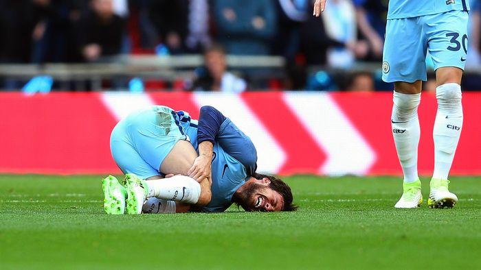 Image result for David Silva injury arsenal FA Cup