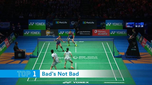 Ennuyeux le badminton ? Spectaculaire oui ! Top 5 point