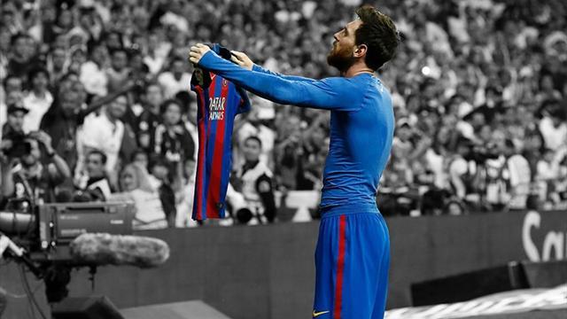 La célébration mythique de Messi contre le Real Madrid est imprimée sur ses crampons