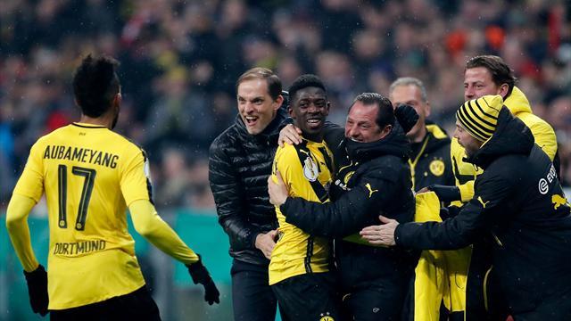 Dembele sinks Bayern as Dortmund seal dramatic cup win