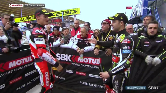 Heated confrontation between Rea and furious Davies at Assen