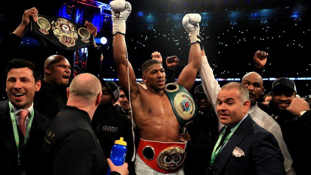 5c641f16dd4 Anthony Joshua stops Wladimir Klitschko in 11th round of epic bout - Boxing  - Eurosport UK
